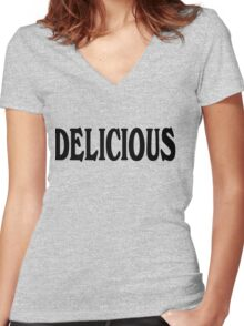Delicious Women's Fitted V-Neck T-Shirt