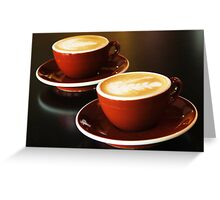 Double shots Greeting Card