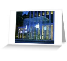 Apple Store 5th Avenue NYC Greeting Card