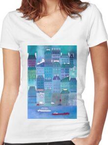 Paris Blues Women's Fitted V-Neck T-Shirt