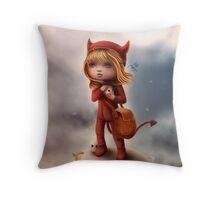 Wickedly Drawn Throw Pillow
