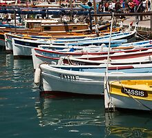 Boats in the Cassis Harbor by Robert Kelch, M.D.
