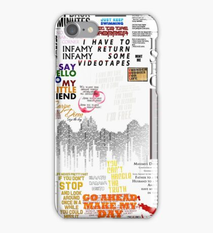 39 Favourite Film Quotes iPhone Case/Skin