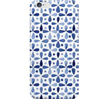 Imperfect Geometry Blue Petal Grid iPhone Case/Skin