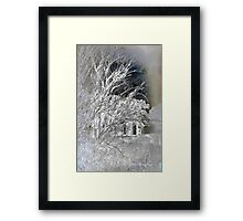 Snow on snow - Icy cold Framed Print