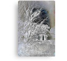 Snow on snow - Icy cold Canvas Print