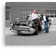 '57 Bel Air Police Cruiser - People Highlight Canvas Print