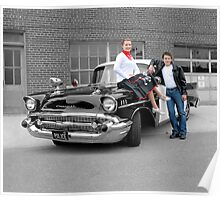 '57 Bel Air Police Cruiser - People Highlight Poster