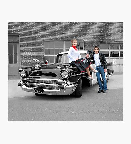 '57 Bel Air Police Cruiser - People Highlight Photographic Print