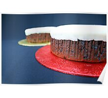 Fruit cakes on board Poster