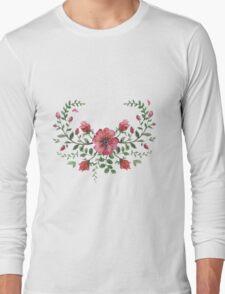 watercolor roses  Long Sleeve T-Shirt