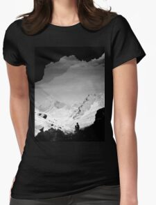 Snowy Isolation Womens Fitted T-Shirt