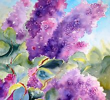 Backyard Lilacs by Barbara  Borsa