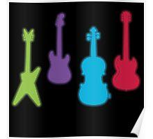 Metro Style Guitar Poster