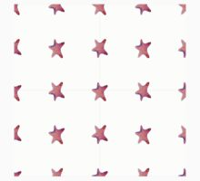 starfish watercolor seamless ornament pattern with footprints in sand. illustration. Kids Tee