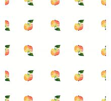seamless watercolor pattern made of scattered decorative apples Photographic Print