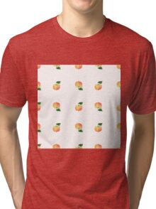 seamless watercolor pattern made of scattered decorative apples Tri-blend T-Shirt