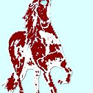 Horse Abstract by Karen Harding