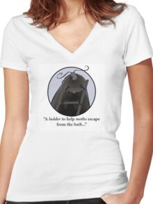A Ladder for Moths - IT Crowd Quotes Women's Fitted V-Neck T-Shirt