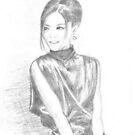 sketch for chinese girl  by jovica