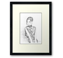 sketch for chinese girl  Framed Print