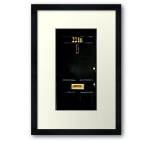 221B Door Framed Print