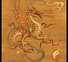 Chinese Dragon Wood Burn by Marvin Hayes