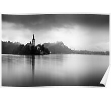 After the rain at Lake Bled Poster