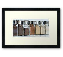 Rainbow of Spices Framed Print