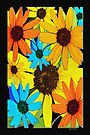 Colorful Sunflowers by Terri Chandler