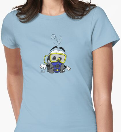 Squage Goes Diving! Womens Fitted T-Shirt