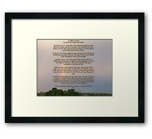 A Fathers Prayer - By General Douglas McArthur Framed Print