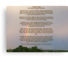 A Fathers Prayer - By General Douglas McArthur Canvas Print