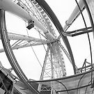 Wheel of Liverpool (B&W) by Mark Kopczewski