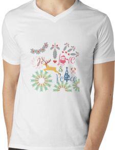 Christmas Joy Love Peace Mens V-Neck T-Shirt