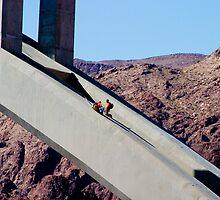 Hoover Dam Bridge workers by Derek Lowe