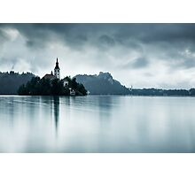 After the rain at Lake Bled Photographic Print