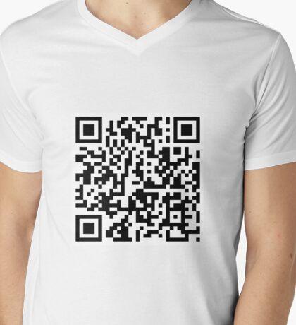QR Shirt Mens V-Neck T-Shirt