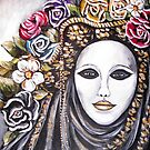 Black Mardi Gras Mask by Pamela Plante