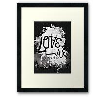a Love/Hate relationship Framed Print