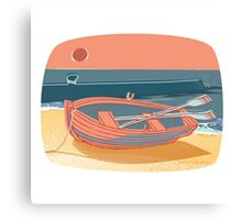 50s Quay - colour Canvas Print