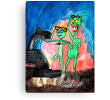 ZEEK from Mars & Nurdy from Venus ... Back to the NerdFest Canvas Print