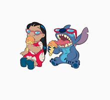 Lilo and Stitch eating Unisex T-Shirt