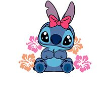 Cute Stitch in pink Photographic Print