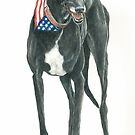 Black Greyhound by Charlotte Yealey