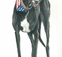 Black Greyhound by Charlotte Yealey