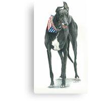 Black Greyhound Canvas Print