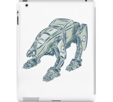 Mecha Bot High Angle Etching iPad Case/Skin