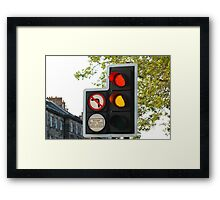 Caution Stop Framed Print