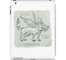 Wild Boar Wings Side Etching iPad Case/Skin